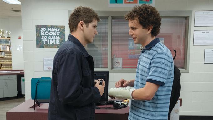 (from left) Connor Murphy (Colton Ryan) and Evan Hansen (Ben Platt) in Dear Evan Hansen, directed by Stephen Chbosky.