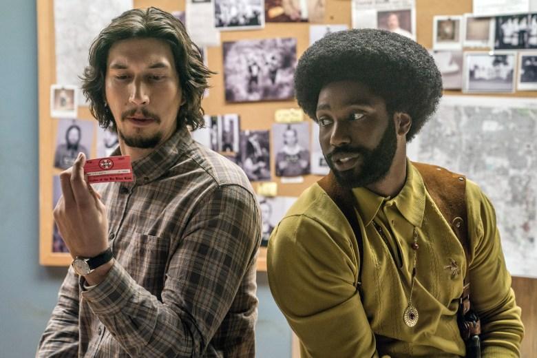 BLACKKKLANSMAN, from left: Adam Driver, John David Washington, 2018. ph: David Lee /© Focus Features /Courtesy Everett Collection