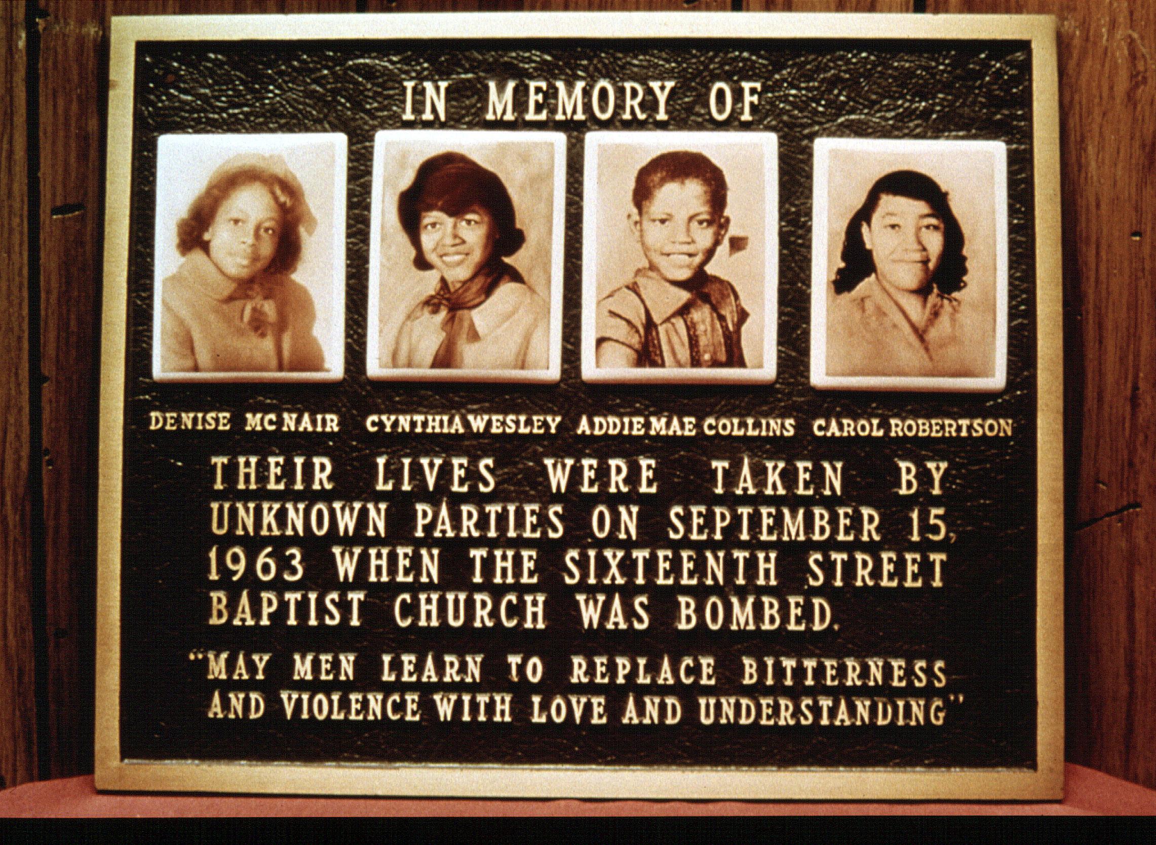 FOUR LITTLE GIRLS, Denise McNair, Cynthia Wesley, Addie Mae Collins, Carol Robertson, 1997