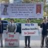 Catholic Protesters Gather Outside NYFF Premiere of Paul Verhoeven's Lesbian Nun Drama 'Benedetta'