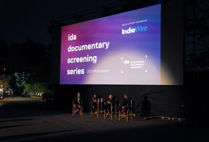 """IndieWire's Anne Thompson moderates a post-screening Q&A with """"The Rescue"""" director-producer Elizabeth Chai Vasarhelyi, producer-editor Bob Eisenhardt, and executive producer Thanet Natisri."""