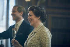 The Crown S4. Picture shows: Prince Philip (TOBIAS MENZIES) and Queen Elizabeth II (OLIVIA COLMAN). Filming Location: Burghley House