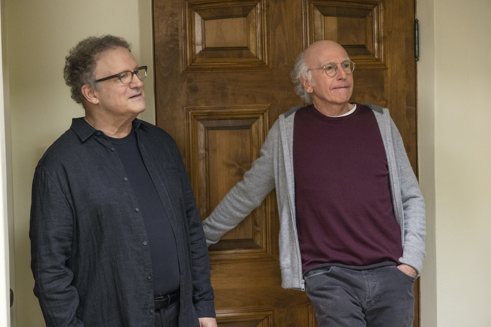 """Albert Brooks and Larry David in """"Curb Your Enthusiasm"""" Season 11 HBO"""