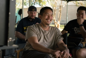 Director/writer/actor Justin Chon on the set of BLUE BAYOU, a Focus Features release. Credit : Ante Cheng / Matthew Chuang / Focus Features