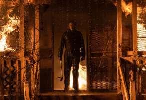 Michael Myers (aka The Shape) in Halloween Kills, directed by David Gordon Green