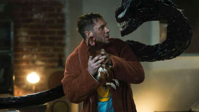 Tom Hardy stars as Eddie Brock/Venom in Columbia Pictures' VENOM: LET THERE BE CARNAGE.