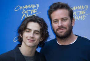 ITALY OUT - Timothee Chalamet and Armie Hammer attend 'Call Me By Your Name' at Hotel De Russie on January 24, 2018 in Rome, Italy. Photo by Alessia Paradisi/Abaca/Sipa USA(Sipa via AP Images)