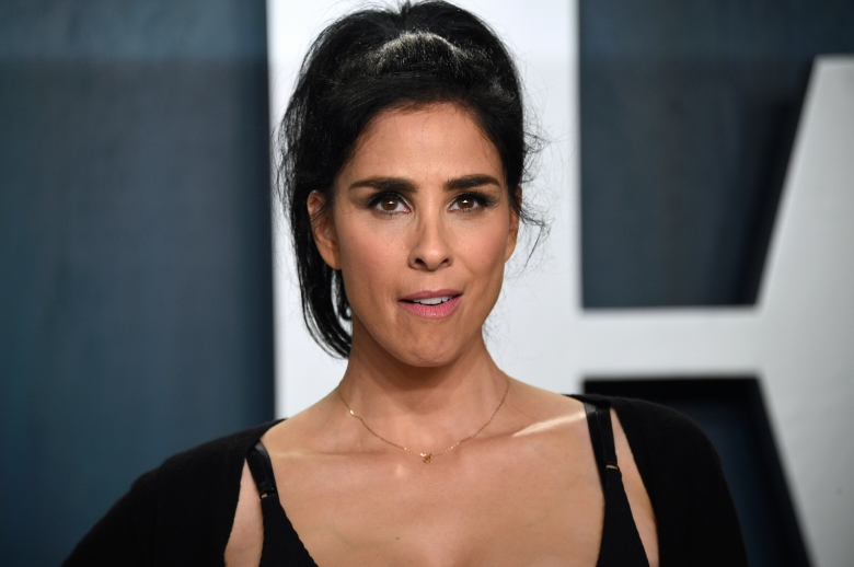 Sarah Silverman arrives at the Vanity Fair Oscar Party on Sunday, Feb. 9, 2020, in Beverly Hills, Calif. (Photo by Evan Agostini/Invision/AP)