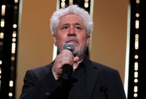 Pedro Almodovar appears at the opening ceremony of the 74th international film festival, Cannes, southern France, Tuesday, July 6, 2021. (Photo by Vianney Le Caer/Invision/AP)