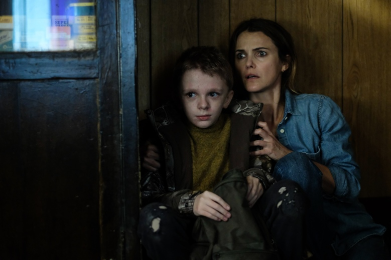 Jeremy T. Thomas and Keri Russell in the film ANTLERS. Photo by Kimberley French. © 2021 20th Century Studios All Rights Reserved