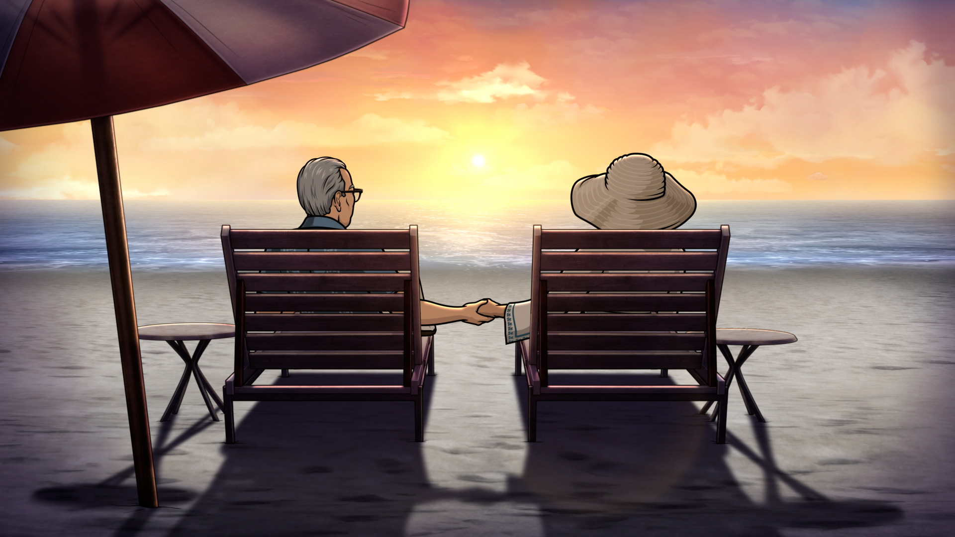 """ARCHER -- """"Mission: Difficult""""— Season 12, Episode 8 (Airs Wednesday, October 6th) — Pictured: (l-r) Ron, Malory Archer (voice of Jessica Walter). CR: FXX"""