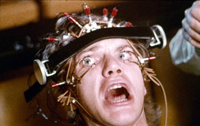 A CLOCKWORK ORANGE, Malcolm McDowell, 1971.