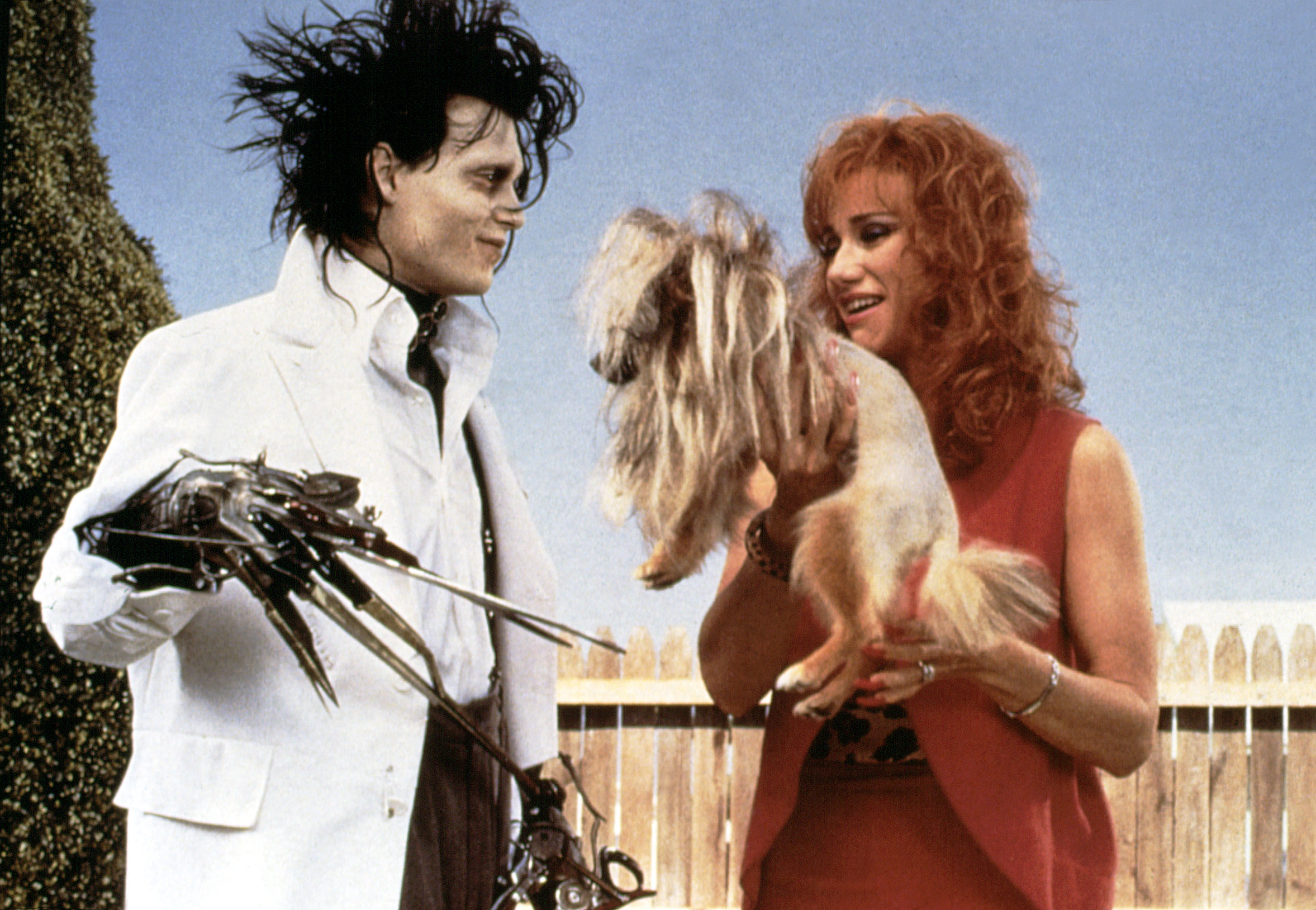 """EDWARD SCISSORHANDS, Johnny Depp, Kathy Baker, 1990. TM and Copyright (c) 20th Century Fox Film Corp. All rights reserved.Courtesy: Everett Collection"""""""
