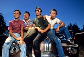 STAND BY ME, Wil Wheaton, Jerry O'Connell, Corey Feldman, River Phoenix, 1986. (c)Columbia Pictures. Courtesy: Everett Collection