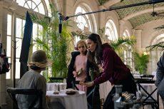 PASSING (L to R) TESSA THOMPSON as IRENE, RUTH NEGGA as CLAREand DIRECTOR REBECCA HALL. Cr: Emily V. Aragones/Netflix © 2021