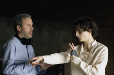 "Denis Villeneuve, Timothee Chalamet on ""Dune"" set"
